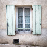 Window of traditional provencal house Stock Image