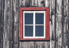 Window of a traditional rustic house royalty free stock photography