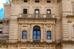 Window Trim on Sandstone Mansion Stock Photos