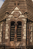 Window on Trinity Church. The historic Trinity Church at Copley square in Boston Massachusetts Royalty Free Stock Photos