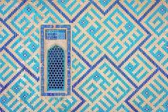 Window of Turkistan mausoleum, Kazakhstan Stock Photos
