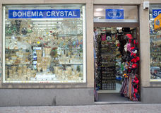 Bohemia crystal shop in Prague Royalty Free Stock Image