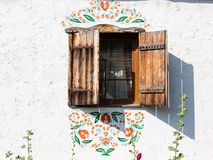 Window of a typical ukrainian antique house Royalty Free Stock Photo