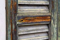 Window  varese palaces  abstract      wood   blind the concrete Stock Photography