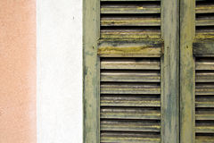 Window  varese palaces italy abstract    in the concrete  brick Royalty Free Stock Photography