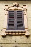 Window  varese palaces italy azzate     abstract      wood  blin Royalty Free Stock Images