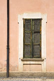Window  varese palaces italy    in the concrete  brick Stock Photo