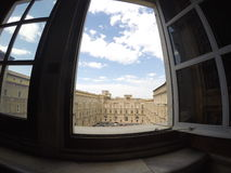 The window of Vatican Museum in Italy Stock Images