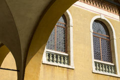 Window in Venetian style. Window in the Venetian style, architecture detail Stock Photos
