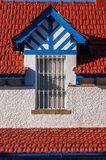 "A window of the Victoria Queen District in Huelva. A window of one of the houses of the English Neighborhood ""Victoria Queen  in Huelva, province of Spain Royalty Free Stock Photo"