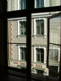 Window view. A view to the windows through window Royalty Free Stock Photo