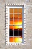 Window view. Sun and lake through a window Stock Image