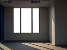 Window view from apartment. Or office building, with clipping path Royalty Free Stock Photography