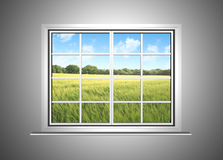 A window view vector illustration
