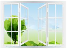 Window view design. Royalty Free Stock Photos