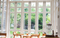Window with a view of garden Stock Image