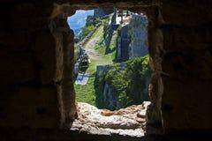 Window View on Klis Fortress Stock Photo