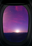 Window view on landscape. Royalty Free Stock Images