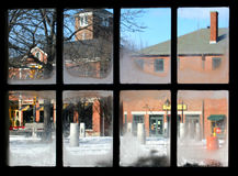 Window View of Newburyport, MA royalty free stock photo