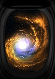 Window view of space. Stock Photo