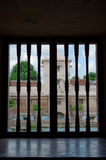 Window view at taman sari water castle - the royal garden of sultanate of jogjakarta Stock Images