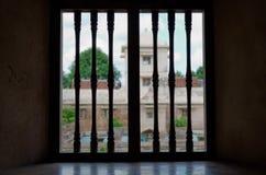 Window view at taman sari water castle - the royal garden of sultanate of jogjakarta Stock Photos