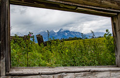 Window View of the Tetons Stock Image