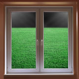 Window view to stadium Royalty Free Stock Photos