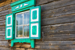 A window in a village house Stock Photography