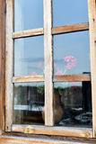 The window of a village house. Royalty Free Stock Images