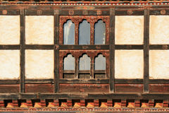 Window - Village near Gangtey - Bhutan Royalty Free Stock Image