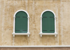 Window on vintage home European style. Royalty Free Stock Images