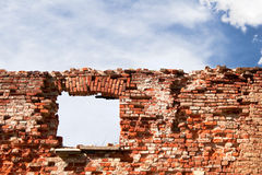 Window in a wall-1. Old ruins Royalty Free Stock Photos
