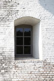 Window and wall. Window is inside deeply a white painted wall Stock Image