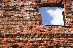 Window in a wall-3. Old ruins Royalty Free Stock Images