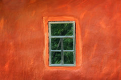 Window on the wall of an ancient house Royalty Free Stock Photos