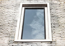 Window on the wall bricks Royalty Free Stock Photography