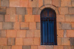 Window and wall of church in Armenia Royalty Free Stock Image