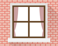 Window on the wall Stock Photo