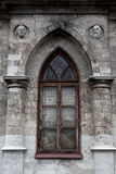 Window in the wall of  Gothic church Royalty Free Stock Image