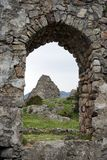 Window and wall. LEZHE, ALBANIA - CIRCA MAY 2019 Ruins in old fortress stock images