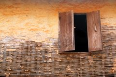 Window on wall old Royalty Free Stock Photography