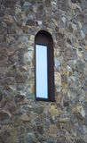 Window and Wall of an Old Stone Cottage House close up. Window and Wall of an Old Stone Cottage House Royalty Free Stock Photos