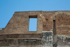 Window in Wall of Roman Coliseum Stock Photos