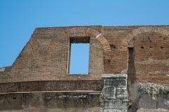 Window in Wall of Roman Coliseum Stock Photos