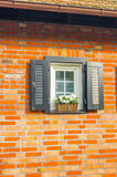 Window on the wall. A small window taken in the residential area of Sopot, Poland Royalty Free Stock Photo