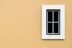 Window on the wall. A window on wall space, modern Royalty Free Stock Photo