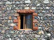 Window in wall stone Stock Photography
