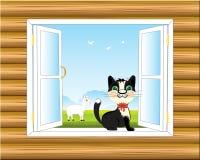 Window in wall Stock Photo