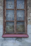 Window in the wall walled up with stones. A window in the wall walled up with stones Royalty Free Stock Images